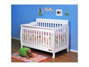 AFG Athena Alice 3 in 1 Convertible Crib with Toddler Rail - White - 4689W