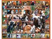 """White Mountain Puzzles WM141 Loveable Pets Collection Jigsaw Puzzle 1000 Pieces 24""""X30"""