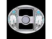 Siskiyou Gifts U7E Belt Buckle- Indian Feathers- Zippo Lighter