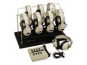 Califone International 1218AVP-03 8-Position Monaural Listening Center With Headphone Rack