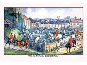 Buyenlarge 06419-6P2030 Hounds Lead Hunters into a Graveyard 20x30 poster