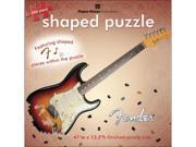 Paper House 482470 Jigsaw Shaped Puzzle 500 Pieces 41 in. x 13.5 in. -Fender Stratocaster