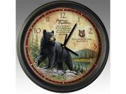 American Expediton WCLK-101 Black Bear 16-inch Wall Clock