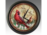 American Expediton WCLK-128 Northern Cardinal 16-inch Wall Clock