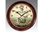 American Expedition SCLK-123 SIGNATURE SERIES CLOCK - MULE DEER