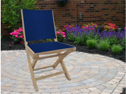 Royal Teak SMSN Sailmate Folding Side Chair-Navy Sling