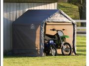 ShelterLogic 70401 6x6x6 ft.  Peak Style Storage Shed, 1-.38 in.  Frame, Grey Cover