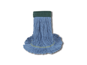 UNISAN 1400M EchoMop with Looped-End Wet Head, Synthetic/Cotton, Medium, Blue, 12/Carton