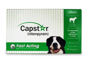 NOVARTIS 004CG-61021 Capstar Flea Treatment Dog - Green- , 25 plus  lbs, 6 Pack
