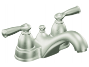 Moen Incorporated Brushed Nickel Banbury Two Handle Low Arc Lavatory Faucet  CA
