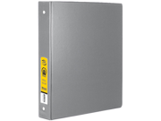 Bazic Products 4111-12 1 in. Grey 3-Ring Binder with 2-Pockets