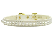 Mirage Pet Products 94-01 14WT .38 in.  Pearl Collar White 14