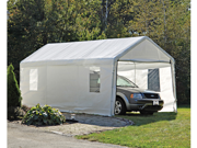 ShelterLogic 25772 10×20 White Canopy Enclosure Kit with Windows, Fits 1-.38 in.  Frame