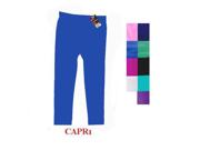 WMU Ladies Plain Capri Legging-Royal Blue