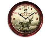American Expedition AMESCLK102 Deer Signature Clock