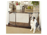 North States NS4934 Deluxe Décor Wall Mounted Matte Bronze Gate 37 in. - 72 in. x  30.7 in.