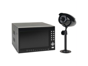 First Alert Hs-4700-s 4 Wired Security Camera Recording System With 7 in. Lcd Display & Built-in Dvr