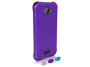 BALLISTIC LS0917-M985 HTC(R) One X(TM) LS Smooth Case (Purple&#59; 4 black, 4 purple, 4 teal & 4 white bumpers)