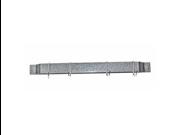 Rogar 1101 24 Inch Bar Rack - Hammered Steel with 4 Chrome Regular Hooks