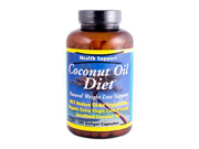 Health Support 0173534 Coconut Oil Diet - 180 Softgel Capsules