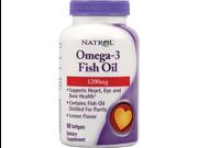 Natrol 0911032 Omega-3 Fish Oil Lemon - 1200 mg - 60 Softgels