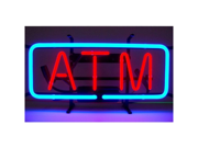 Neonetics 5ATMNE ATM Neon Sign with Hand Blown Neon Tubing