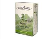 Good Earth 0456343 Green Tea Decaffeinated Lemongrass - 18 Tea Bags