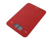 AWS ONYX-5K-RD 5Kg X 1G Amw Glass Kitchen Scale - Red