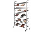 Whitmor Mfg. 6060-3510 Chrome Supreme 50 Pair Shoe Rack