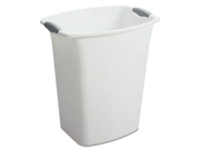Sterilite 21 Quart White Open Wastebasket  10368006 - Pack of 6