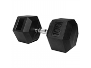 100 lb. Rubber Hex Dumbbell XM-3301-100