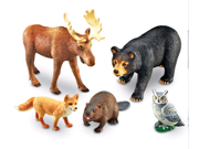 Learning Resources LER0787 Jumbo Animals - Forest Animals