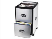 Stx 61352U01C Mobile Filing Cabinet With Metal Siding, 19w x 15d x 23h, Black/Silver
