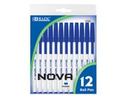 Bazic 1743- 24 Nova Blue Color Stick Pen- Pack of 24