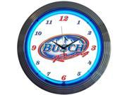 Neonetics 8BUSCH BUSCH RACING NEON CLOCK