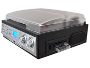 SOUND AROUND-PYLE INDUSTRIES PTTCS9U Classic Retro Style Turntable - Plays AM-FM Radio, Cassettes and MP3s