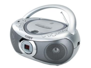 Coby - CXCD236 - Silver - Boombox - CD - Radio