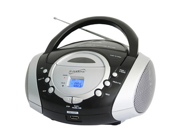 SUPERSONIC SC-508 Portable Audio System MP3-CD Player with USB-AUX Inputs & AM-FM Radio
