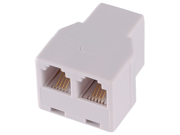 Jasco Products White Duplex In Line Phone Adapter  76570