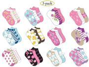 Bulk Buys Ladies Low Cut Socks- 3 Pack - Case of 120