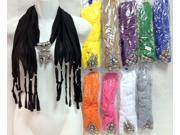 Bulk Buys Wholesale Rhinestone Butterfly Scarf Necklace Fashion Scarves - Case of 12