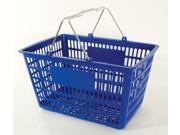 Bulk Buys - Blue Heavy Duty Jumbo Shopping Basket Set With Chrome Metal Handles - Case of 12