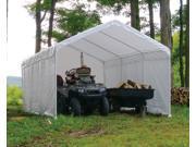 ShelterLogic 25776 12×26 White Canopy Enclosure Kit, Fits 2 in.  Frame