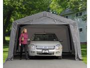 ShelterLogic 62697 12×16×8 Peak Style Shelter, 1-.38 in.  5-Rib Frame, Grey Cover