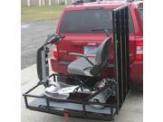 Prairie View Industries MT3000 Hitch Mounted Carrier with 4 ft. Ramp 6 in. High Guard Rail
