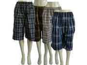 Bulk Buys Mens Plaid Shorts - Case of 12