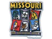Bulk Buys Missouri Magnet 2D 6 View - Case of 96