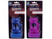 Dog waste bag dispenser with refill bags - Pack of 48