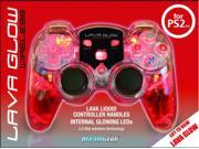 PS2 Red Lava Glow Mini 2.4GHZ Wireless - DGPN525