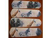 Ceiling Fan Designers 42SET-ANI-ASE New AFRICAN SAFARI ELEPHANT 42'' Ceiling Fan BLADES ONLY